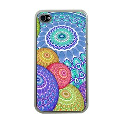 India Ornaments Mandala Balls Multicolored Apple iPhone 4 Case (Clear)