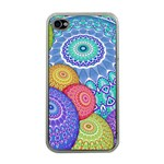 India Ornaments Mandala Balls Multicolored Apple iPhone 4 Case (Clear) Front