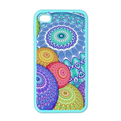 India Ornaments Mandala Balls Multicolored Apple iPhone 4 Case (Color)
