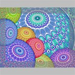 India Ornaments Mandala Balls Multicolored Deluxe Canvas 16  x 12   16  x 12  x 1.5  Stretched Canvas