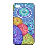 India Ornaments Mandala Balls Multicolored Apple iPhone 4/4s Seamless Case (Black) Front