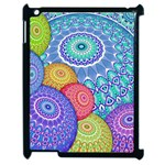 India Ornaments Mandala Balls Multicolored Apple iPad 2 Case (Black) Front