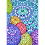 India Ornaments Mandala Balls Multicolored Circle Bottom 3D Greeting Card (7x5) Inside