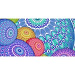 India Ornaments Mandala Balls Multicolored Laugh Live Love 3D Greeting Card (8x4) Back
