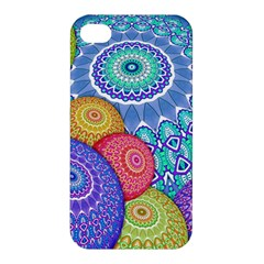 India Ornaments Mandala Balls Multicolored Apple iPhone 4/4S Hardshell Case