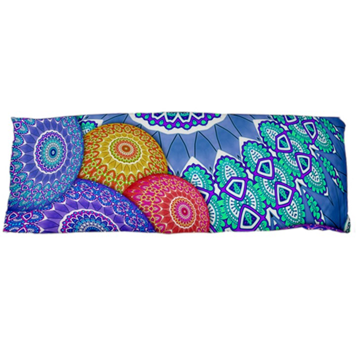 India Ornaments Mandala Balls Multicolored Body Pillow Case (Dakimakura)