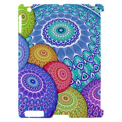 India Ornaments Mandala Balls Multicolored Apple iPad 2 Hardshell Case (Compatible with Smart Cover)