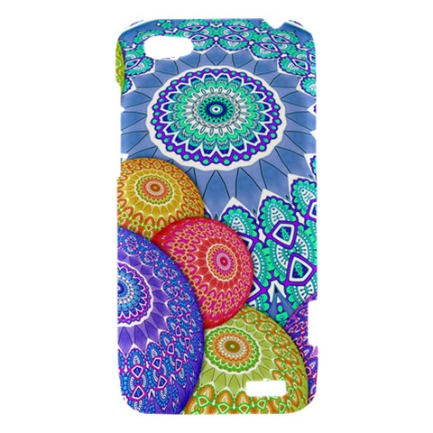 India Ornaments Mandala Balls Multicolored HTC One V Hardshell Case