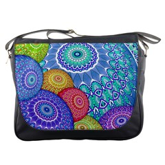 India Ornaments Mandala Balls Multicolored Messenger Bags