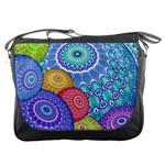 India Ornaments Mandala Balls Multicolored Messenger Bags Front