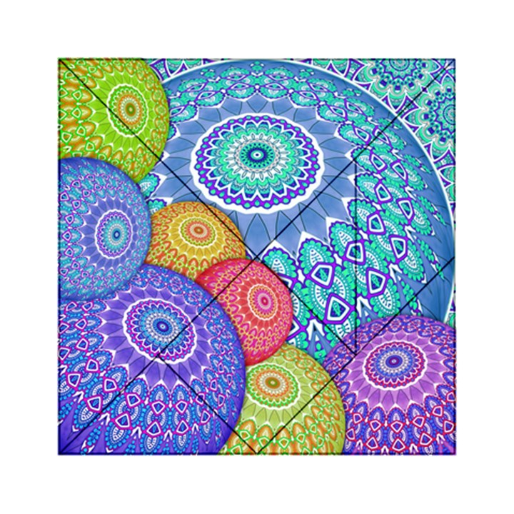 India Ornaments Mandala Balls Multicolored Acrylic Tangram Puzzle (6  x 6 )