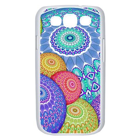 India Ornaments Mandala Balls Multicolored Samsung Galaxy S III Case (White)