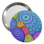 India Ornaments Mandala Balls Multicolored 3  Handbag Mirrors Front