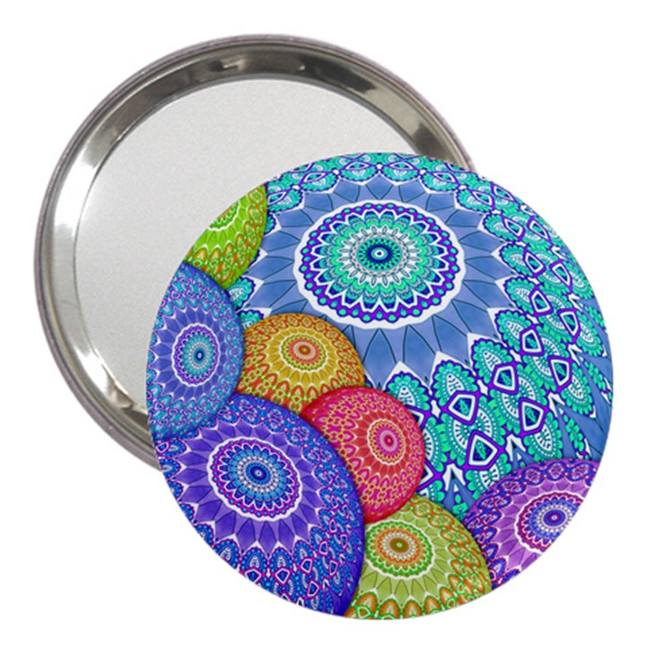 India Ornaments Mandala Balls Multicolored 3  Handbag Mirrors