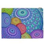 India Ornaments Mandala Balls Multicolored Cosmetic Bag (XXL)  Back