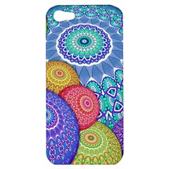 India Ornaments Mandala Balls Multicolored Apple Iphone 5 Hardshell Case