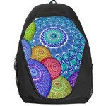 India Ornaments Mandala Balls Multicolored Backpack Bag Front