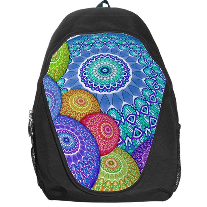 India Ornaments Mandala Balls Multicolored Backpack Bag