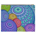 India Ornaments Mandala Balls Multicolored Cosmetic Bag (XXXL)  Back