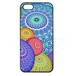 India Ornaments Mandala Balls Multicolored Apple iPhone 5 Seamless Case (Black) Front
