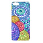 India Ornaments Mandala Balls Multicolored Apple iPhone 5 Seamless Case (White) Front