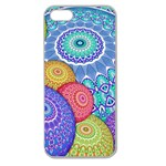 India Ornaments Mandala Balls Multicolored Apple Seamless iPhone 5 Case (Clear) Front