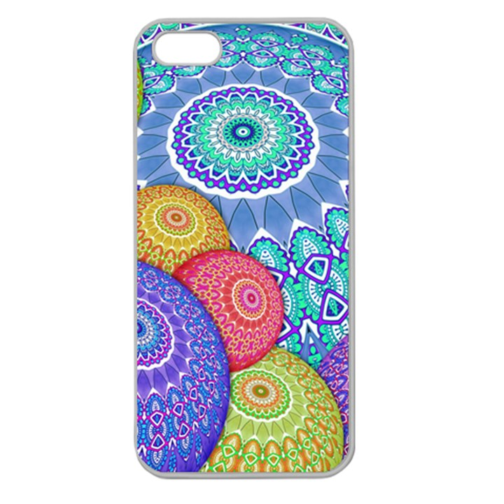 India Ornaments Mandala Balls Multicolored Apple Seamless iPhone 5 Case (Clear)