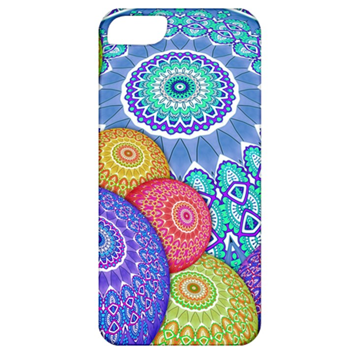 India Ornaments Mandala Balls Multicolored Apple iPhone 5 Classic Hardshell Case