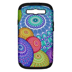 India Ornaments Mandala Balls Multicolored Samsung Galaxy S III Hardshell Case (PC+Silicone)