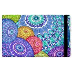 India Ornaments Mandala Balls Multicolored Apple Ipad 3/4 Flip Case