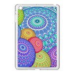 India Ornaments Mandala Balls Multicolored Apple iPad Mini Case (White) Front