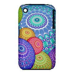 India Ornaments Mandala Balls Multicolored Apple Iphone 3g/3gs Hardshell Case (pc+silicone)