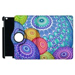 India Ornaments Mandala Balls Multicolored Apple iPad 2 Flip 360 Case Front