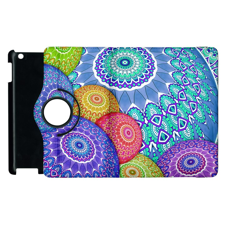 India Ornaments Mandala Balls Multicolored Apple iPad 2 Flip 360 Case