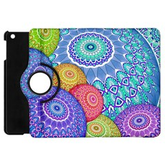 India Ornaments Mandala Balls Multicolored Apple iPad Mini Flip 360 Case
