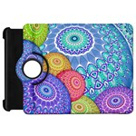 India Ornaments Mandala Balls Multicolored Kindle Fire HD Flip 360 Case Front