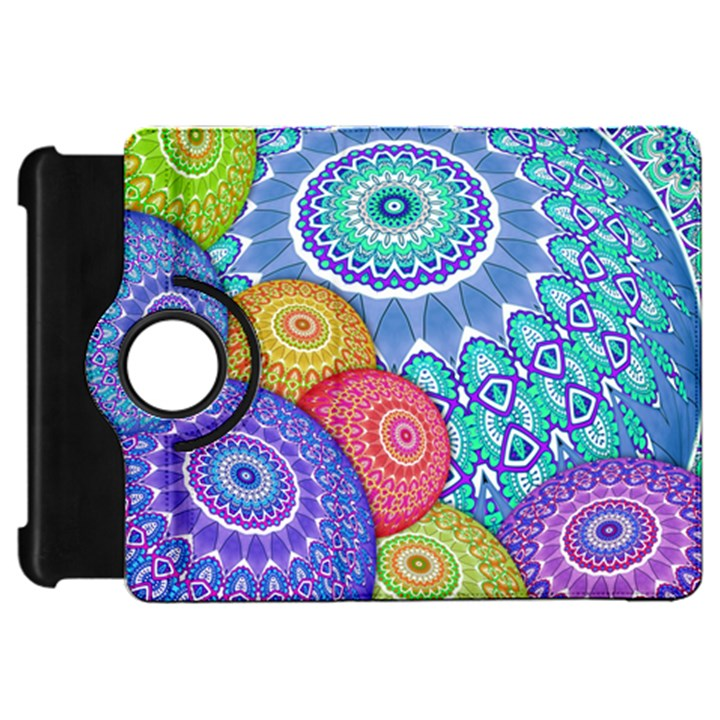 India Ornaments Mandala Balls Multicolored Kindle Fire HD Flip 360 Case