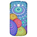 India Ornaments Mandala Balls Multicolored Samsung Galaxy S3 S III Classic Hardshell Back Case Front