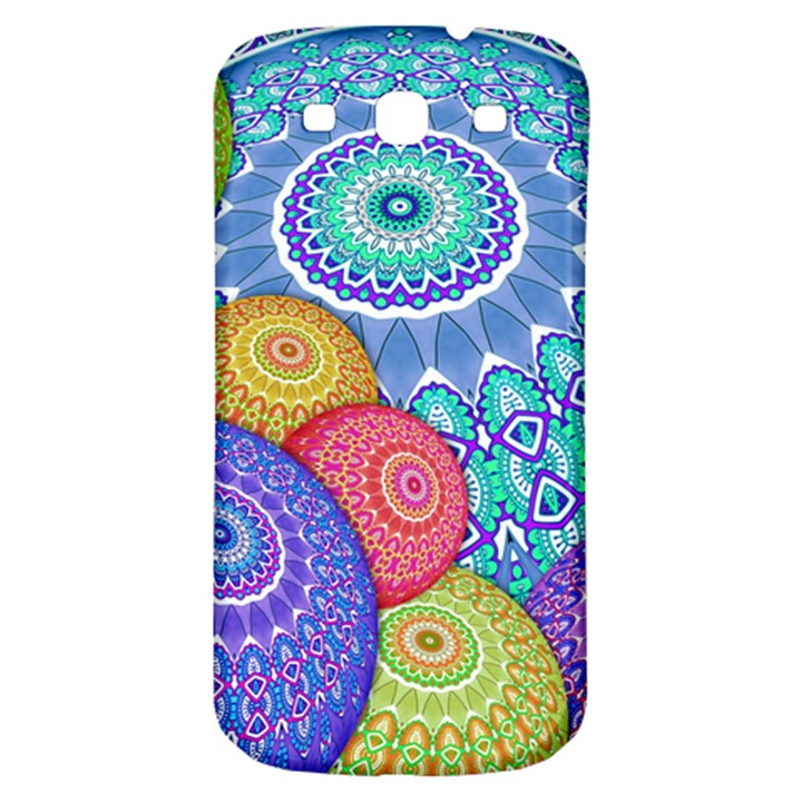India Ornaments Mandala Balls Multicolored Samsung Galaxy S3 S III Classic Hardshell Back Case
