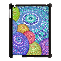 India Ornaments Mandala Balls Multicolored Apple iPad 3/4 Case (Black)