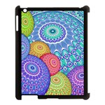 India Ornaments Mandala Balls Multicolored Apple iPad 3/4 Case (Black) Front