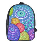 India Ornaments Mandala Balls Multicolored School Bags (XL)  Front