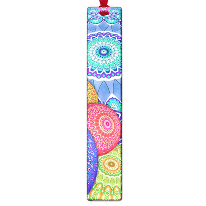 India Ornaments Mandala Balls Multicolored Large Book Marks