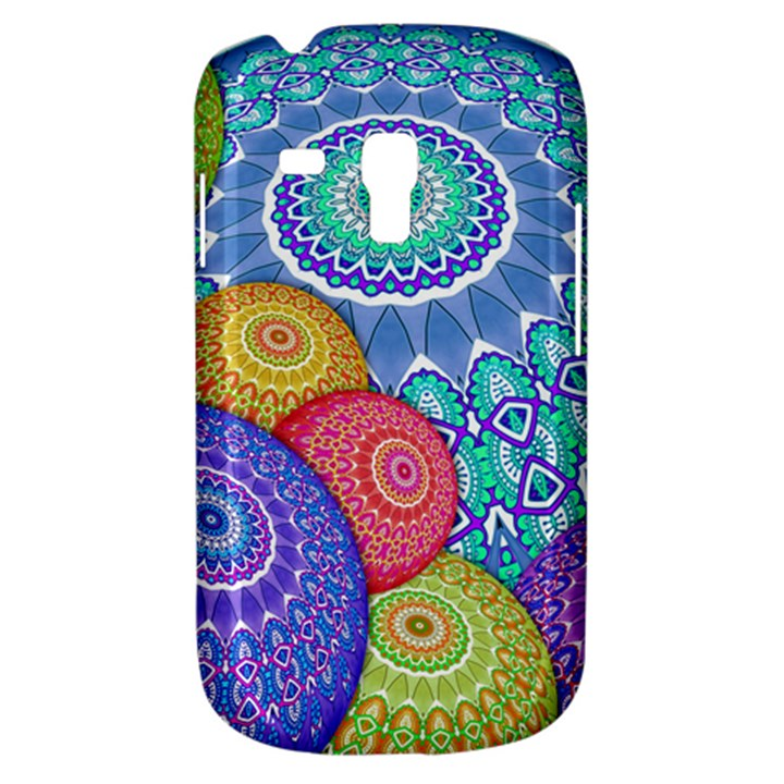 India Ornaments Mandala Balls Multicolored Samsung Galaxy S3 MINI I8190 Hardshell Case