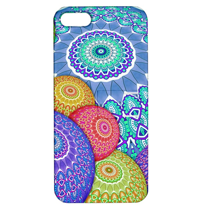 India Ornaments Mandala Balls Multicolored Apple iPhone 5 Hardshell Case with Stand
