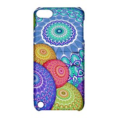India Ornaments Mandala Balls Multicolored Apple Ipod Touch 5 Hardshell Case With Stand