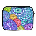 India Ornaments Mandala Balls Multicolored Apple iPad 2/3/4 Zipper Cases Front