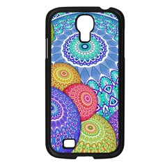 India Ornaments Mandala Balls Multicolored Samsung Galaxy S4 I9500/ I9505 Case (black)