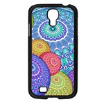 India Ornaments Mandala Balls Multicolored Samsung Galaxy S4 I9500/ I9505 Case (Black) Front