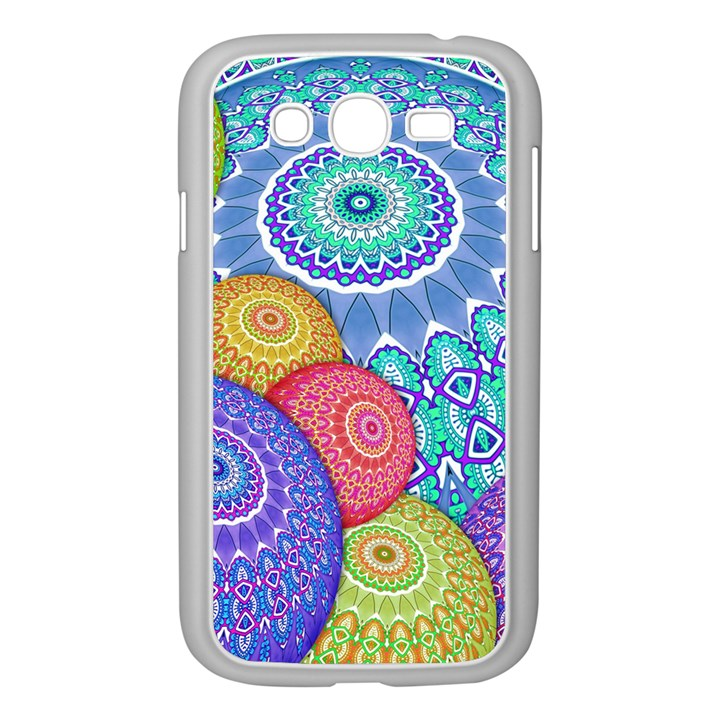 India Ornaments Mandala Balls Multicolored Samsung Galaxy Grand DUOS I9082 Case (White)
